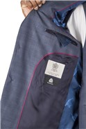 Blue Subtle Check Tailored Fit Suit