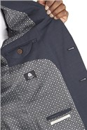 Navy Puppytooth Tailored  Fit Jacket