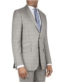 Grey Jaspe Check Tailored Fit Suit