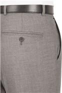Grey Plain Regular Fit Suit Trouser