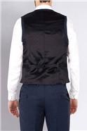 Blue Tonal Check Regular Fit Luxury Suit Waistcoat