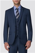 Bright Blue Pick and Pick Tailored Trousers