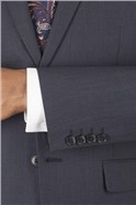 Navy Dobby Tailored Fit Suit