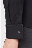 Stvdio Black Stretch Poplin Shirt