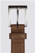 Tan Top Stitch Belt