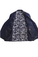 Blue Semi Plain Slim Fit Jacket
