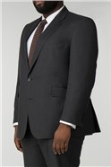 Charcoal Big & Tall Textured Regular Fit Suit