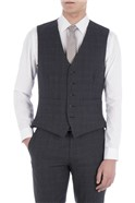 Navy/Charcoal Check Tailored Fit Waistcoat