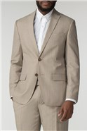 Oatmeal Linen Wool Blend Tailored Fit Suit Trouser