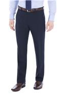 Navy Plain Regular Fit Travel Suit Trouser