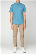 Short Sleeve Green Gingham Shirt
