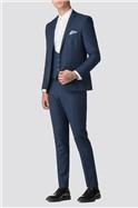 Sapphire Twill Skinny Suit