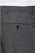Grey Donegal Wool Blend Tailored Fit Suit Trouser
