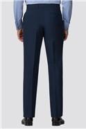 Branded Blue Regular Fit Suit Trousers