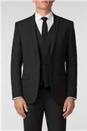Plain Black Panama Slim Fit Suit