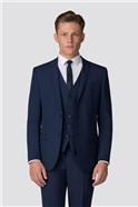 Plain Blue Panama Slim Fit Suit