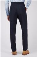Plain Navy Panama Slim Fit Trousers