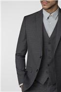 Charcoal Gingham Slim Fit Suit