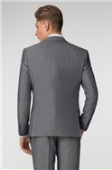 Plain Silver Grey Tonic Slim Fit Waistcoat