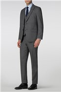 Charcoal Jaspe Tailored Fit Trousers