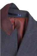 Stvdio Blue with Rust Overcheck Tailored Fit Waistcoat