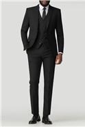 Stvdio Black Notch Lapel Slim Fit Suit