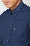 Navy Long Sleeved Oxford Shirt