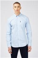 Sky Blue Long Sleeved Gingham Shirt