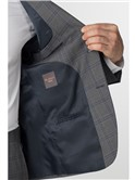 Grey with Blue Overcheck Tailored Fit Suit