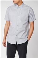 Light Grey Short Sleeved Oxford Shirt