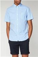 Sky Blue Short Sleeved Gingham Shirt