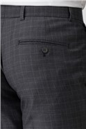 Tailored Fit Charcoal Check Suit Trouser