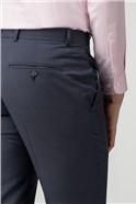 Slate Blue Panama Tailored Fit Trouser