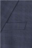 Blue Check Regular Fit Travel Suit