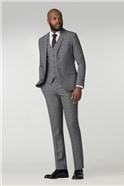 Stvdio Grey Check Super Slim Fit Brit Suit