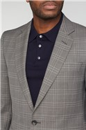 Grey & Blue Check Tailored Suit Jacket