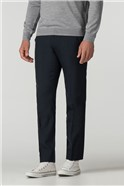 Tailored Fit Navy Panama Suit Trouser