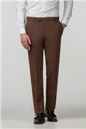 Rust Donegal Slim Fit Trousers