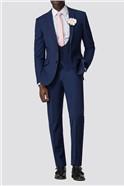 Blue Plain Scoop Waistcoat