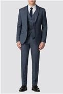 Airforce Blue Donegal Slim Fit Suit