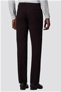 Burgundy Skinny Fit Trousers