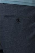 Blue Jaspe Check Skinny Fit Suit Trouser