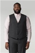 Charcoal Birdseye Big and Tall Waistcoat