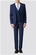 Blue Skinny Fit Suit Trousers