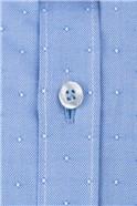Blue Textured Spot Shirt