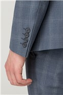 Slate Blue Check Skinny Fit Suit