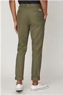 Olive Slim Leg Chinos