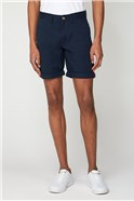 Men's Navy Blue Chino Shorts