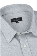 Grey Marl Tailored Fit Jersey Shirt