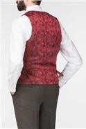 Andrew Green Tweed Check Slim Fit Waistcoat